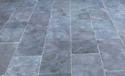 Bluestone pavers showing the beautiful shades of blue and gray in the paving stones