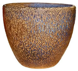 A large gold-brown bowl