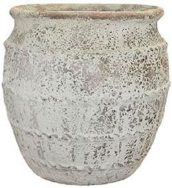 A large pot with a greek style