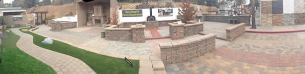 Outside Paver Showroom