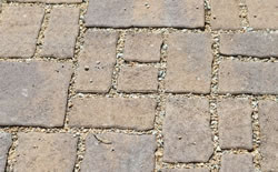 Permeable pavers showing the porous joints