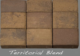 Territorial Blend thin veneer pavers