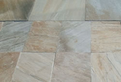 Quartzite paving stones