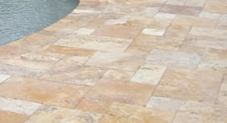 Travertine pavers - poolside