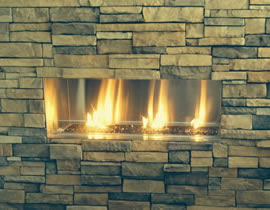 Outdoor Ventless Fireplace